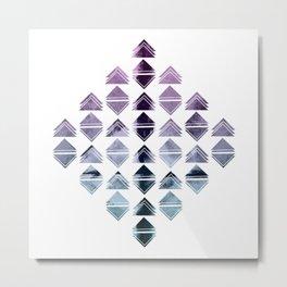 Rhombus triangles Metal Print