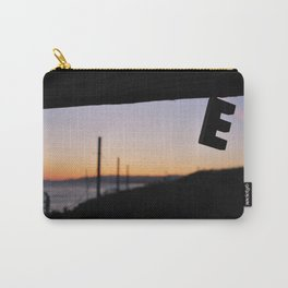 """Woodblock Series, Impermanence, """"E"""" Carry-All Pouch"""