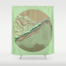 TOPOGRAPHY 001 Shower Curtain