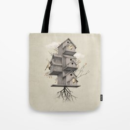 Bird Houses - Stay Home Tote Bag