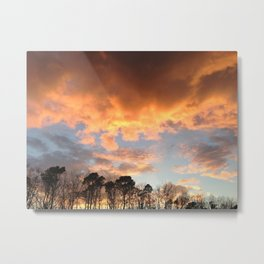 """sunet in a dark place"" Metal Print"