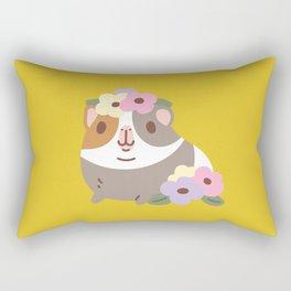 Guinea pig and flowers Rectangular Pillow