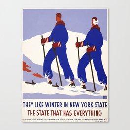 Vintage poster - New York Canvas Print
