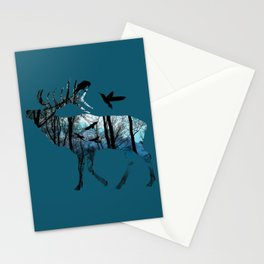 Forest Spirit - Blues Stationery Cards