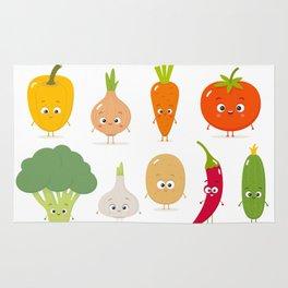 Cartoon Vegetables Rug