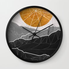 Shattered Sun Wall Clock