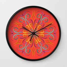 Stronger (Coral) Wall Clock