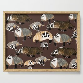 American badger Serving Tray
