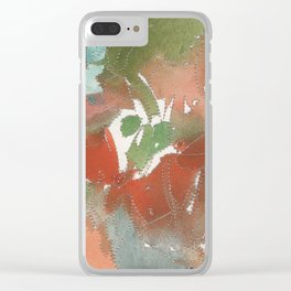 abstract silver threads Clear iPhone Case