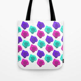 Candy Roses (Purple x Turquoise x Pink) Tote Bag
