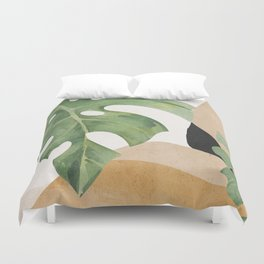 Abstract Art Tropical Leaves 3 Duvet Cover