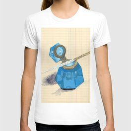Blue Crystal Inkwell and Dip Pen in Gouache T-shirt