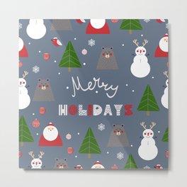 Merry Holidays II Metal Print