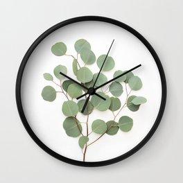 Eucalyptus Branch Wall Clock