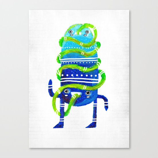 Mr Tubeface Canvas Print