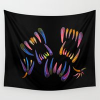 teeth Wall Tapestries featuring stained teeth by giol's