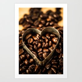 I Heart Coffee Art Print