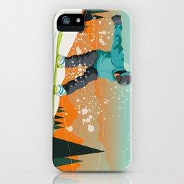 Snowboard Jump iPhone Case