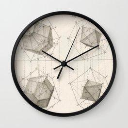 Crystal Geometry Wall Clock