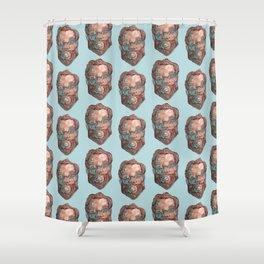 bearded pattern Shower Curtain