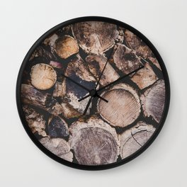 Stack of Firewood Wall Clock