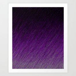 Funky Dark Purple Art Print