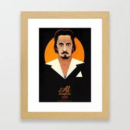 Al the Scarface Framed Art Print