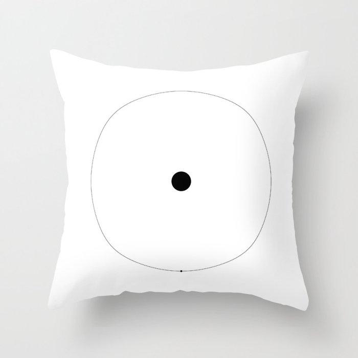 The Hydrogen Line - white Throw Pillow