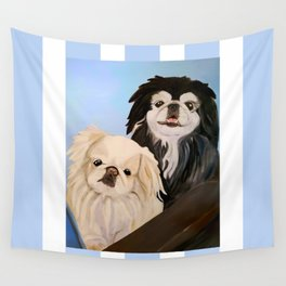 Peke Tootise and Manny Wall Tapestry