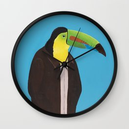 Toucan In Suit Wall Clock