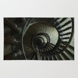 Brown wooden spiral staircase Rug