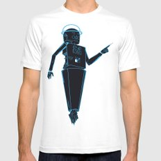 Space robots  White MEDIUM Mens Fitted Tee