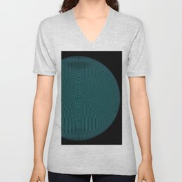 Wire Globe Full Blue Black Unisex V-Neck