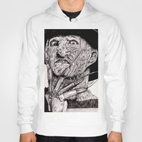 freddy krueger Hoodies featuring Freddy Krueger by Emz Illustration
