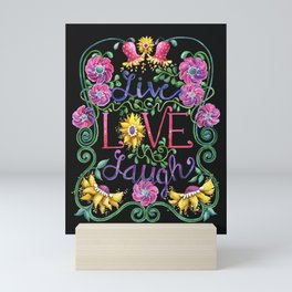 Live Love Laugh II Mini Art Print