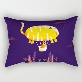 Cat Balloon Rectangular Pillow