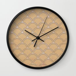 Abstract large scallops in iced coffee with texture Wall Clock