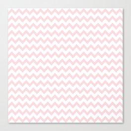Light Pink Zig Zags Canvas Print