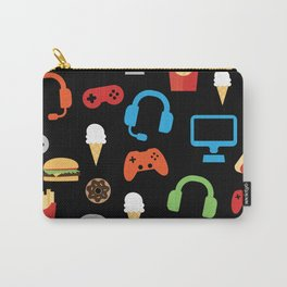 Video Game Party Snack Pattern Carry-All Pouch