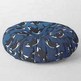 Orca whale Floor Pillow