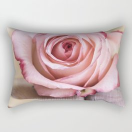Pink rose and golden ribbon Rectangular Pillow