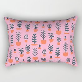 Potted Plants on Pink Rectangular Pillow