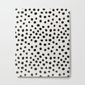 Preppy brushstroke free polka dots black and white spots dots dalmation animal spots design minimal by charlottewinter