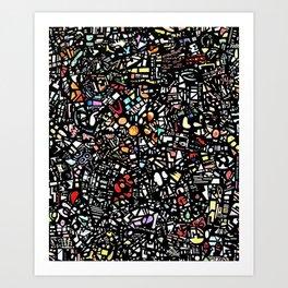 Assorted shapes Art Print