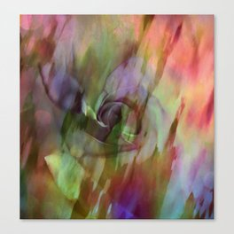 Rainbow Rose Floral Abstract Canvas Print
