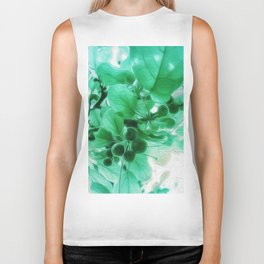 See Through Leaves Biker Tank