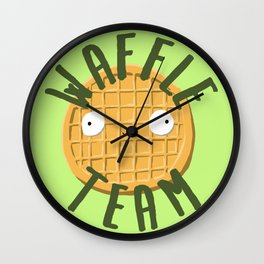 Waffle Team Wall Clock