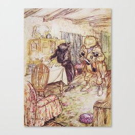 Wind in the willows ratty and mole Canvas Print