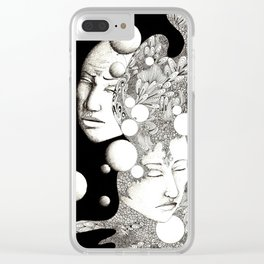 Troubled and peaceful sleep Clear iPhone Case