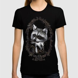 Racoon Musketeer Ornate Frame T-shirt